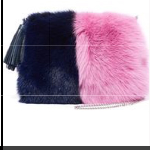 Loeffler Randall Handbags - Loeffler Randall fur and suede pillow purse